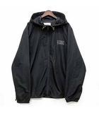 ディーゼル DIESEL ウインド パーカー ジャケット ジップアップ ロゴ プリント 0SJRU-BMOWT-WINDY-FG-0EAXX ブラック 黒 XL 美品