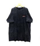 ビラボン BILLABONG Tシャツ オーバーサイズ ワンピース ウォッシュ加工 半袖 ブラック 黒 M BA013-320