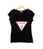 ゲス GUESS Tシャツ カットソー Vネック プリント 半袖 ブラック 黒 M