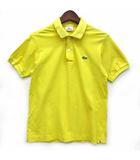 ラコステ LACOSTE リブカラー ポロシャツ 半袖 ワンポイント 鹿の子 L1212Xイエロー 黄 1