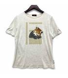 エヴェックス バイ クリツィア EVEX by KRIZIA Tシャツ カットソー 半袖 アライグマ プリント レーヨン コットン シルク ベージュ 42