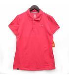 ナイキ NIKE ポロシャツ コットン 半袖 鹿の子 ストレッチ スウォッシュロゴ 刺繍 ピンク L 466864