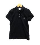 ブルックスブラザーズ BROOKS BROTHERS ポロシャツ 鹿の子 シープ刺繍 ワンポイント 半袖 ブラック 黒 S