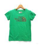 ザノースフェイス THE NORTH FACE フラワー ロゴ Tシャツ 半袖 プリント 花柄 グリーン 緑 M