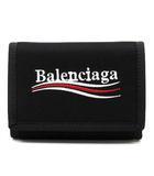 バレンシアガ BALENCIAGA エクスプローラー EXPLORER コンパクト ウォレット 三つ折り 財布 507481 ナイロン ブラック 黒 ☆AA★ ユニセックス