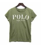 ポロ バイ ラルフローレン Polo by Ralph Lauren Tシャツ カットソー コットン 半袖 デストロイロゴ カーキグリーン 緑 XS