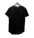 ヴァンキッシュ VANQUISH FITNESS ロゴ Tシャツ カットソー 半袖 クルーネック ラウンドヘム ストレッチ ブラック 黒 S