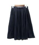 ファビュラス アンジェラ FABULOUS ANGELA ギャザー プリーツ スカート 膝丈 サイドジップ ネイビー 紺 M 美品