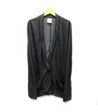 ルスーク Le souk ジャージー テーラード ジャケット 羽織 薄手 リヨセル ウール チャコールグレー 38