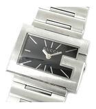 Gレクタングル 100L 腕時計 クォーツ ウォッチ SS ブラック 黒文字盤 YA100519