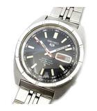 5 ファイブ スポーツ 自動巻き 21石 6119-8140 メンズ 腕時計 SS ブラック 黒文字盤 アンティーク 稼働品
