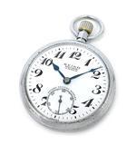 PRECISION 鉄道時計 懐中時計 15石 手巻き 昭41 3259 中国支 ホワイト 白文字盤 アンティーク 稼働品