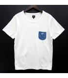 リー LEE デニム ポケット Tシャツ 半袖 クルーネック ホワイト 白 L