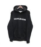 カルバンクラインジーンズ Calvin Klein Jeans ロゴ フーディ スウェット パーカー プルオーバー J30J309528 ブラック 黒 L