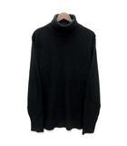ユナイテッドトウキョウ UNITED TOKYO 細畦 タートルネック ニット セーター 長袖 ブラック 黒 2 美品