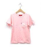 エヴィス EVISU ヤマネ YAMANE Tシャツ カモメ カットソー ポケット 半袖 プリント 刺繍 ロゴ ピンク 32 ※ET 190219