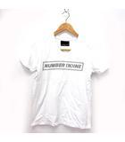ナンバーナイン NUMBER (N)INE DENIM Tシャツ プルオーバー カットソー Vネック ロゴ プリント 半袖 白 M ※ET 190322