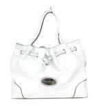 コチネレ COCCINELLE トートバッグ シボレザー 牛革 ロゴプレート 白 ホワイト 鞄 ※RT190417