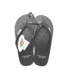 ロンハーマン Ron Herman LOCALS ローカルズ コラボ Beach Sandals ビーチサンダル トング フラット ロゴ ブラック ※TK190415