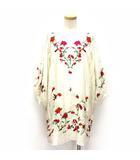 ザラウーマン ZARA WOMAN ワンピース ミニ エンブロイダリー 刺繍 長袖 アイボリー ※HM190418