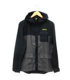 アディダスネオ adidas neo ST CLジャケット ブルゾン ジャージ フード スポーツウエア ジップアップ 裏メッシュ 黒 黄色 M ※ET190418