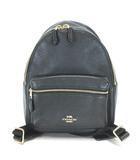 コーチ COACH チャーリー ペブルドレザー ミニ バックパック リュックサック デイパック F28995 黒 ブラック 鞄 ※RT190420