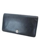 シャネル CHANEL 長財布 二つ折り ウォレット ココボタン レザー ブラック A20904 ※MH190514