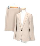 アンタイトル UNTITLED スーツ 洗える ドレッサーミッション テーラードジャケット スカート セットアップ 42 ベージュ ※RT190508