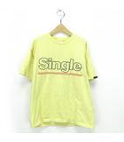グルービカラーズ GROOVY COLORS 19SS トップス Tシャツ キッズ テンジク SINGLE ALBUM BIG TEE 黄 140 ※AI 190516