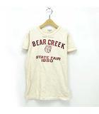 フィス FITH デニム&ダンガリー DENIM DUNGAREE 19SS ビンテージトンプキンテンジク BEAR CREEK TEE Tシャツ ベージュ 02 160 ※AI 190516