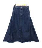 ミューニック Munich 12oz denim maxi skirt デニム マキシ スカート ロング カットオフ ネイビー S MN191S04 ※RT190518