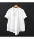 バレンシアガ BALENCIAGA ブラウス 半袖 36 白 ホワイト 190417