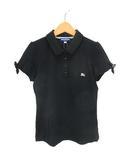 バーバリーブルーレーベル BURBERRY BLUE LABEL ポロシャツ 半袖 38  黒 ブラック 190522