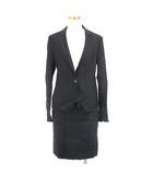 アイシービー iCB スーツ ジャケット スカート セットアップ ミニ丈 リネン混 7 ブラック 黒 191029E