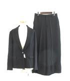 ユニバーサル ランゲージ UNIVERSAL LANGUAGE スーツ セットアップ ジャケット ショールカラー ワイド パンツ 42 ブラック 黒 191025E