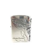 ジッポー ZIPPO Harley Davidson ハーレーダビッドソン オイルライター 銀いぶしエッチング ウィング シルバー 190929T