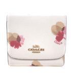 コーチ COACH F53758 フローラル スモールウォレット 財布 三つ折り 花柄 ホワイト 191009G