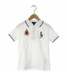 ポロ ラルフローレン POLO RALPH LAUREN ポロシャツ 半袖 刺繍 フェザーウェイト コットン メッシュ 130 白 ホワイト 子供服 191015O