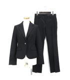アンタイトル UNTITLED セットアップ スーツ  テーラードジャケット パンツ ストライプ ウール 2 黒 ブラック 191106O