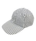 キジマタカユキ KIJIMATAKAYUKI PUCKERING JET CAP パッカリング シアサッカー ジェットキャップ 帽子 6パネル 2 グレー 181225 191111T