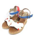ツモリチサト TSUMORI CHISATO × PARE GABIA サンダル ウェッジソール ドット ホワイト × レッド系 靴 200110E