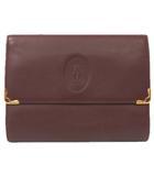 カルティエ Cartier マストライン 三つ折り 財布 レザー がま口 フラップ ボルドー レッド 200217T