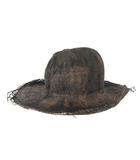 レナードプランク REINHARD PLANK ストローハット 麦わら 中折れ バーン加工 ブラウン 帽子 200315Y