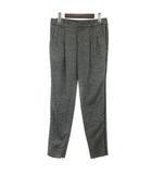 グッチ GUCCI 13年製 パンツ スラックス ロング テーパード 裾ファスナー ウール 38 黒 ブラック