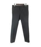 グッチ GUCCI 12年製 パンツ スラックス ロング ストレッチ 金釦 307299 ZY434 40 黒 ブラック