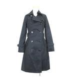 バーバリーブルーレーベル BURBERRY BLUE LABEL トレンチ コート スプリング ライナー ノバチェック FRF17-596-09 38 黒 ブラック 上着