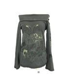 ディーゼル DIESEL Tシャツ カットソー オフショルダー プリント 長袖 カーキ S IBS68