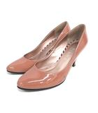 ダイアナ DIANA パンプス エナメル 22.5cm ピンクブラウン 靴 200903E