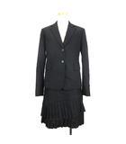 ダナキャランニューヨーク DKNY セットアップ スーツ テーラードジャケット スカート カシミヤミックス ウール ブラック 201001O