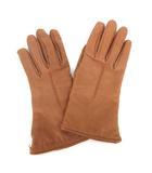 コーチ COACH レザー 手袋 グローブ カシミヤ ブラウン 茶 210115O